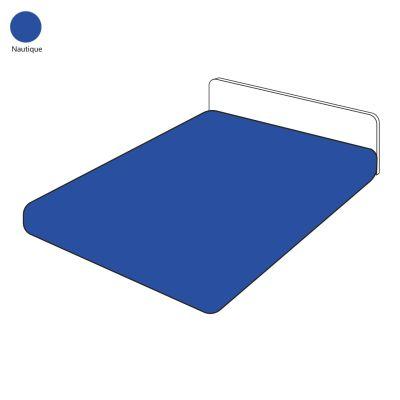 drap housse uni nautique coton 90x190 linge de maison. Black Bedroom Furniture Sets. Home Design Ideas