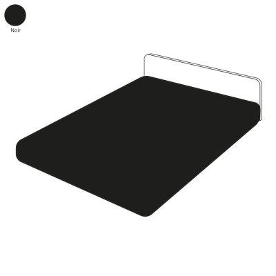 drap housse uni noir 90x190 linge de maison. Black Bedroom Furniture Sets. Home Design Ideas