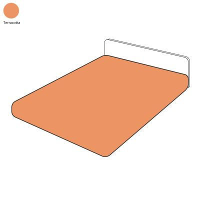 Drap housse uni percale terracotta 180x200 tradilinge for Draps housse 180x200