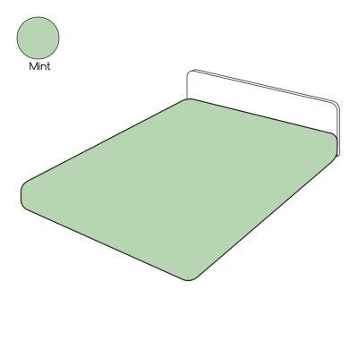 drap housse uni vert mint coton 90x200 linge de maison. Black Bedroom Furniture Sets. Home Design Ideas