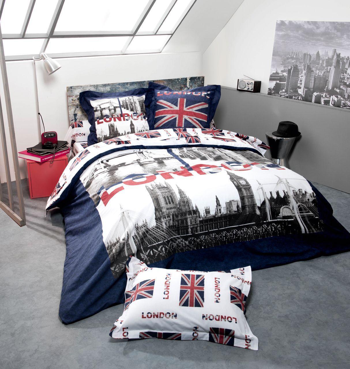 drap plat jack imprim sur fond blanc 240x310 tradilinge. Black Bedroom Furniture Sets. Home Design Ideas
