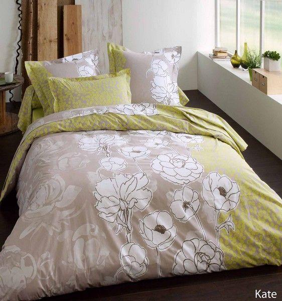 Drap plat kate 180x290 linge de maison - Difference entre drap plat et housse de couette ...
