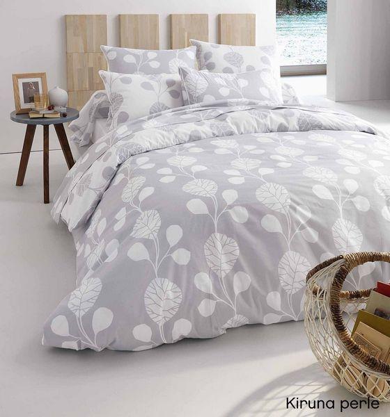 Drap plat kiruna perle 280x300 linge de maison - Difference entre drap plat et housse de couette ...