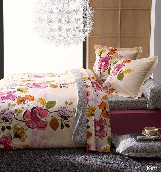 Drap plat kim 180x290 linge de maison - Difference entre drap plat et housse de couette ...