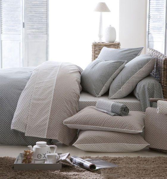 Housse de couette actuel gris 140x200 linge de maison - Difference entre drap plat et housse de couette ...