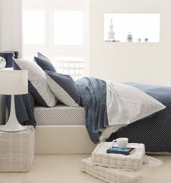 housse de couette actuel marine 140x200 tradilinge. Black Bedroom Furniture Sets. Home Design Ideas