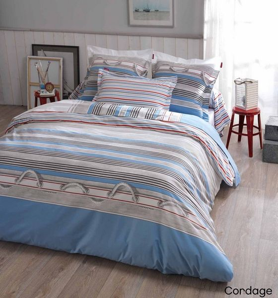 housse de couette cordage 200x200 linge de maison. Black Bedroom Furniture Sets. Home Design Ideas