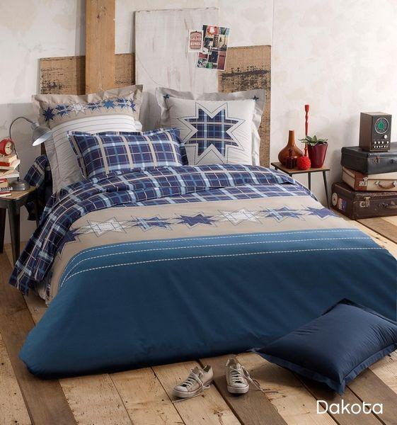 housse de couette dakota 140x200 linge de maison. Black Bedroom Furniture Sets. Home Design Ideas