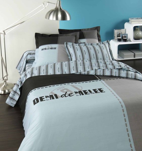 housse de couette demi de m l e square 200x200 linge de maison. Black Bedroom Furniture Sets. Home Design Ideas