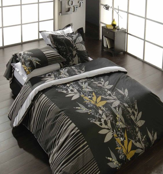 housse de couette diane 200x200 linge de maison. Black Bedroom Furniture Sets. Home Design Ideas