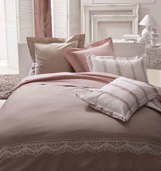 housse de couette fanny rose th 140x200 tradilinge. Black Bedroom Furniture Sets. Home Design Ideas