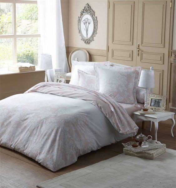 Housse de couette galice rose th 140x200 tradilinge for Housse couette rose