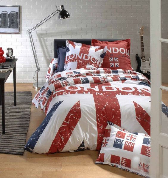 Housse de couette london 200x200 tradilinge for Housse de couette spiderman 200x200