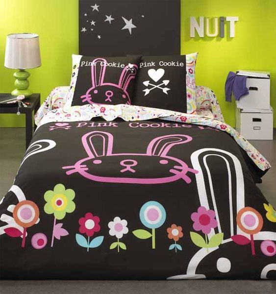 housse de couette pink cookie manga 200x200 linge de maison. Black Bedroom Furniture Sets. Home Design Ideas