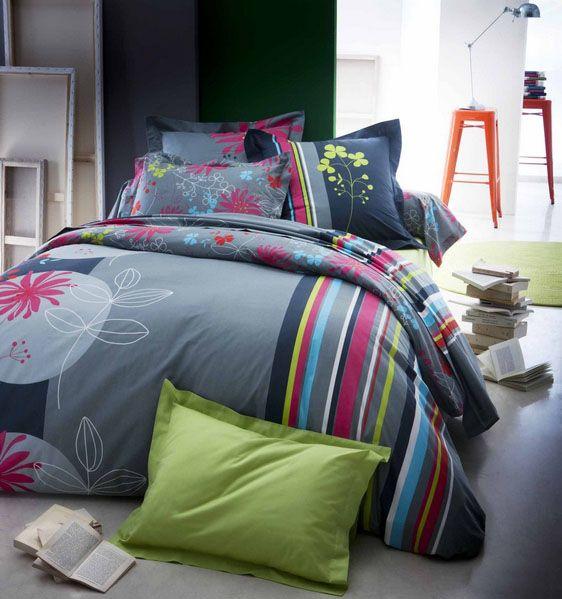 housse de couette vogue 260x240 tradilinge. Black Bedroom Furniture Sets. Home Design Ideas