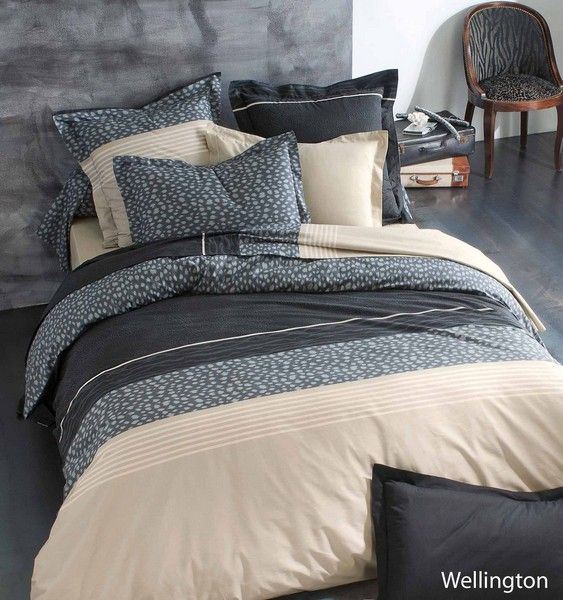 housse de couette wellington 200x200 linge de maison. Black Bedroom Furniture Sets. Home Design Ideas
