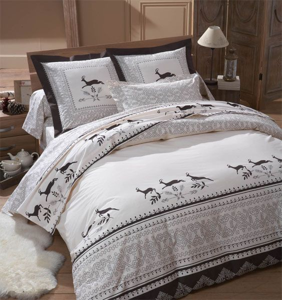 housse de couette chamois 260x240 tradilinge. Black Bedroom Furniture Sets. Home Design Ideas