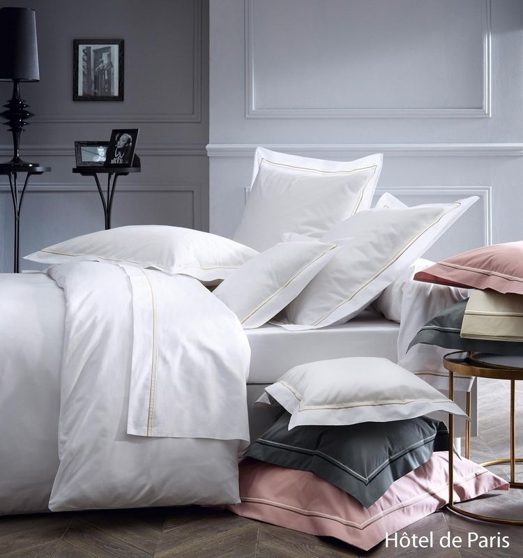 housse de couette percale h tel de paris blanc 140x200 tradilinge. Black Bedroom Furniture Sets. Home Design Ideas