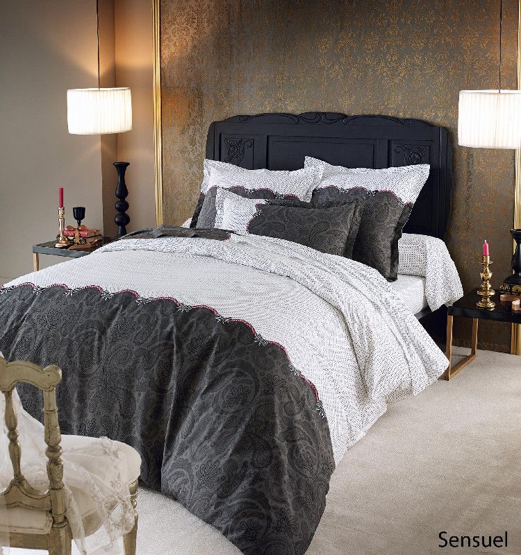 housse de couette percale sensuel 140x200 tradilinge. Black Bedroom Furniture Sets. Home Design Ideas