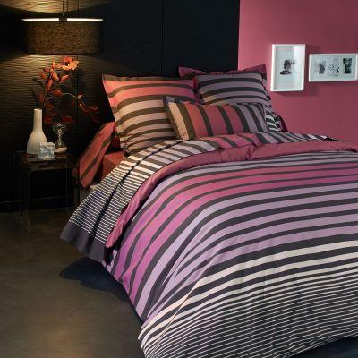 housse de couette percale stripe cam lia 260x240 tradilinge. Black Bedroom Furniture Sets. Home Design Ideas
