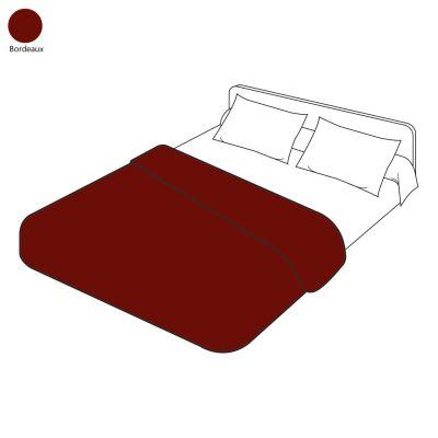 housse de couette uni bordeaux 240x220 linge de maison. Black Bedroom Furniture Sets. Home Design Ideas