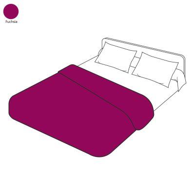 housse de couette uni fuchsia 200x200 linge de maison. Black Bedroom Furniture Sets. Home Design Ideas