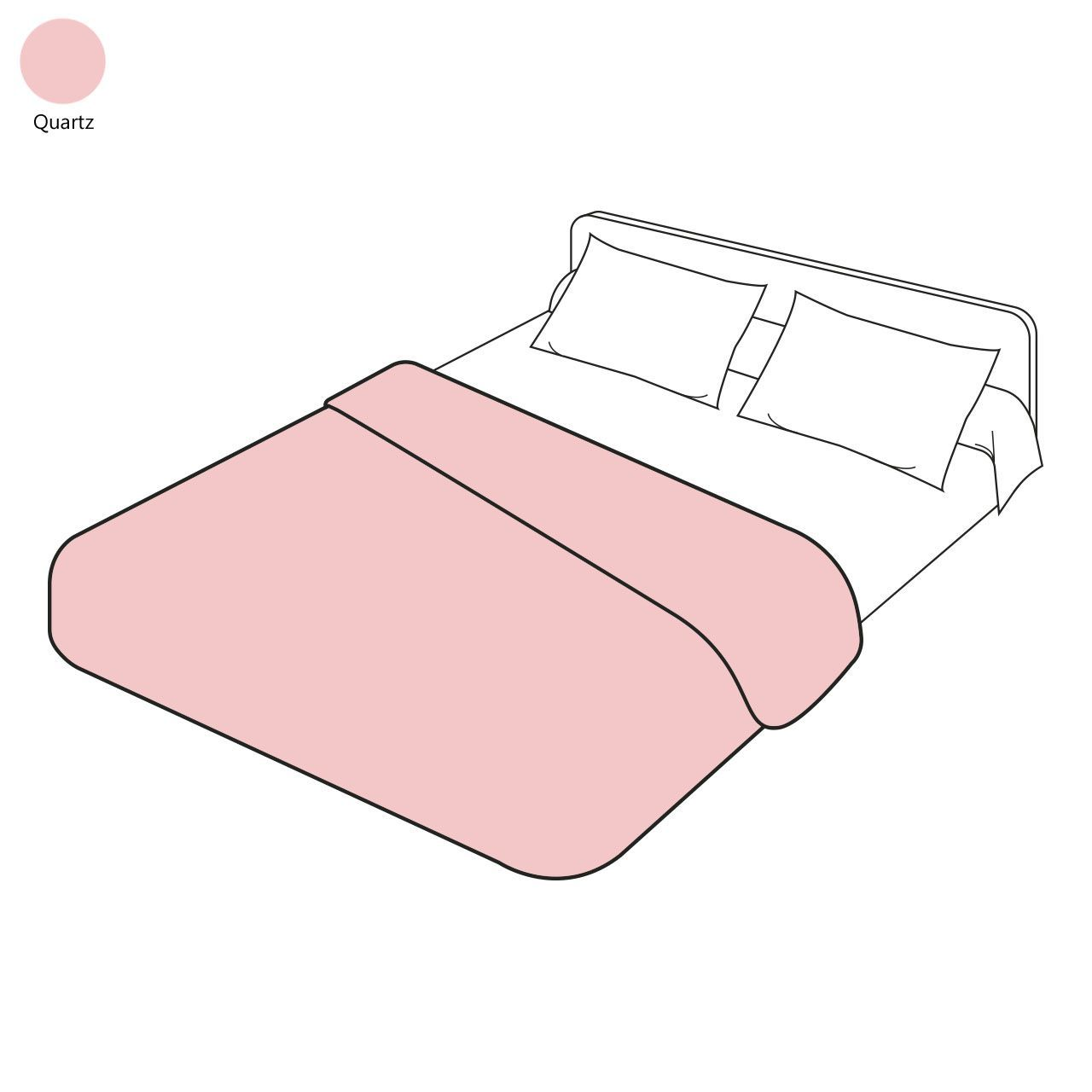 housse de couette uni percale quartz 140x200 tradilinge. Black Bedroom Furniture Sets. Home Design Ideas