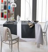 Nappe Spirale Anthracite jacquard 180x300 ovale - Tradilinge