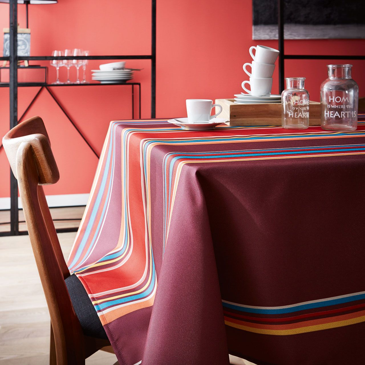 nappe rectangle polyester dunes figue 150x350 tradilinge. Black Bedroom Furniture Sets. Home Design Ideas