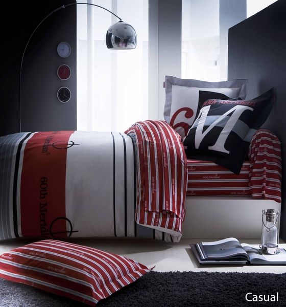 parure de lit 60th meridian casual 4 pi ces 240x310 linge de maison. Black Bedroom Furniture Sets. Home Design Ideas