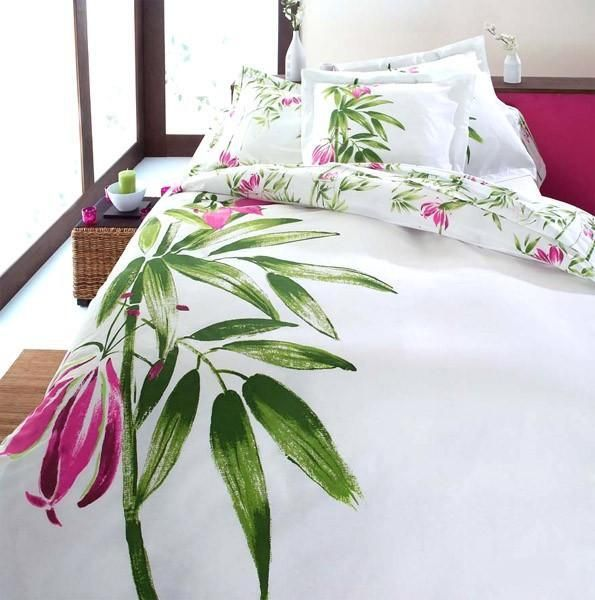 Parure de lit bambou tradilinge for Parure de lit asiatique