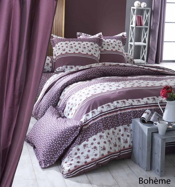 parure de lit boh me 140x200 linge de maison. Black Bedroom Furniture Sets. Home Design Ideas