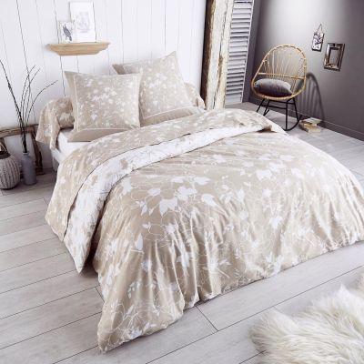 parure de lit colette flanelle dp 240x300 dh 140x190 2to 1tt linge de maison. Black Bedroom Furniture Sets. Home Design Ideas