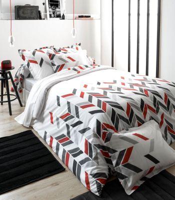 parure de lit demi de m l e graphic dp 240x310 dh 140x190. Black Bedroom Furniture Sets. Home Design Ideas