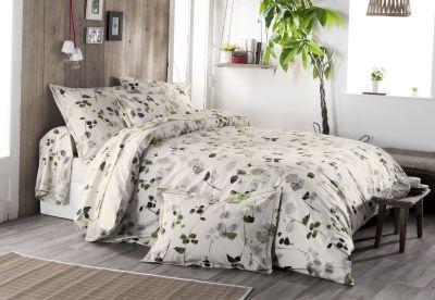 parure de lit feuillages coton motifs feuilles dp 240x310 dh 140x190 1tt linge de maison. Black Bedroom Furniture Sets. Home Design Ideas