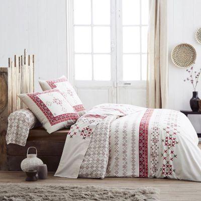 parure de lit galway flanelle hc 140x200 1to linge de maison. Black Bedroom Furniture Sets. Home Design Ideas