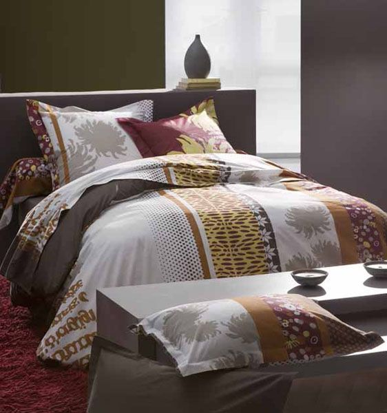 parure de lit happy 140x200 linge de maison. Black Bedroom Furniture Sets. Home Design Ideas