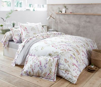 parure de lit herbier impression florale dp 180x290 dh 90x190 1to linge de maison. Black Bedroom Furniture Sets. Home Design Ideas