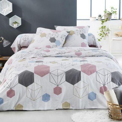 parure de lit prismatic flanelle dp 240x300 dh 140x190 2to linge de maison. Black Bedroom Furniture Sets. Home Design Ideas
