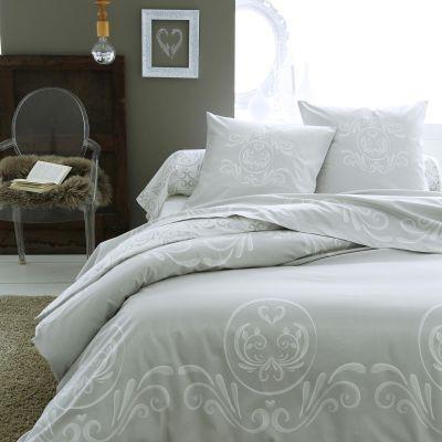 parure de lit romance flanelle hc 200x200 2to linge de maison. Black Bedroom Furniture Sets. Home Design Ideas