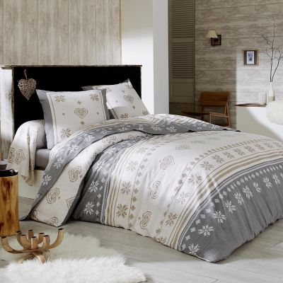 parure de lit shetland flanelle dp 240x300 dh 140x190 2to 1tt linge de maison. Black Bedroom Furniture Sets. Home Design Ideas