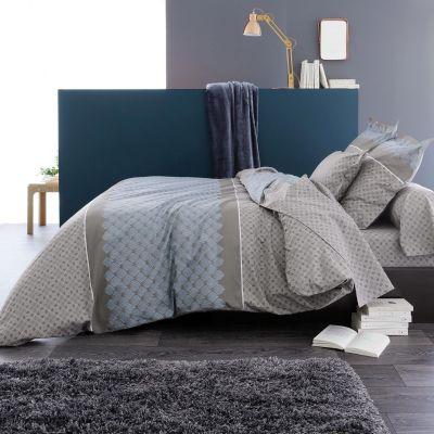 parure de lit talisman motifs coton dp 180x290 dh 90x190 1tt. Black Bedroom Furniture Sets. Home Design Ideas