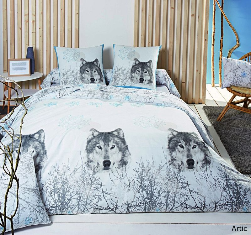 taie d 39 oreiller artic 65x65 linge de maison. Black Bedroom Furniture Sets. Home Design Ideas