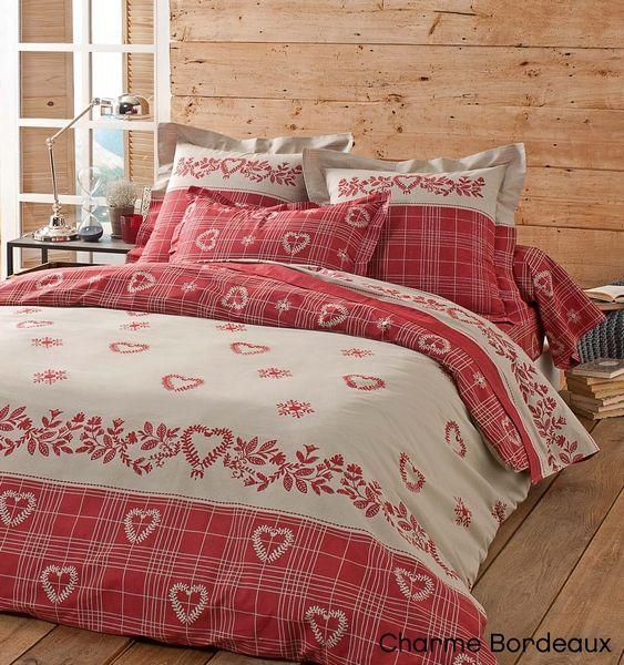 taie d 39 oreiller charme bordeaux 65x65 linge de maison. Black Bedroom Furniture Sets. Home Design Ideas