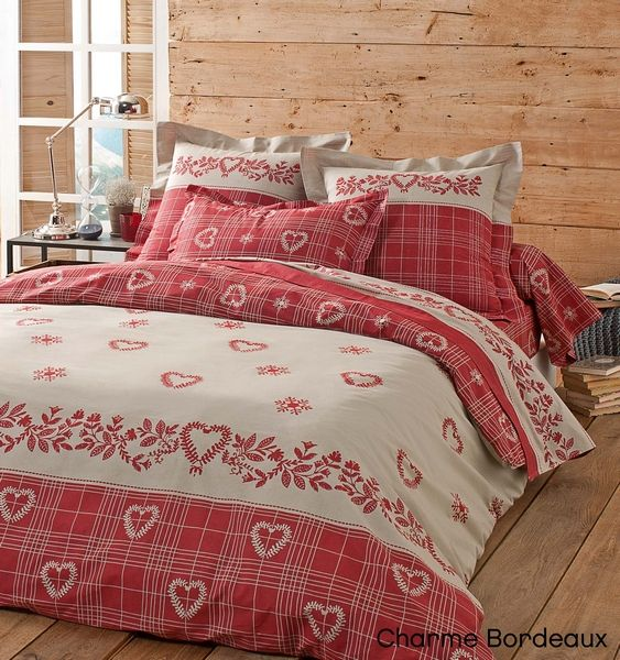 taie d 39 oreiller charme bordeaux 65x65 tradilinge. Black Bedroom Furniture Sets. Home Design Ideas