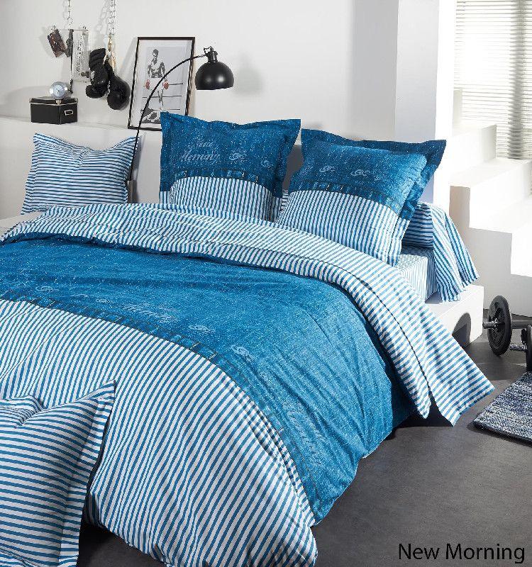 taie d 39 oreiller demi de m l e new morning 65x65 linge de maison. Black Bedroom Furniture Sets. Home Design Ideas