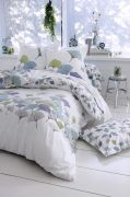 Taie d'oreiller Ginkgo percale motifs feuilles fond blanc 50x70 - Tradilinge