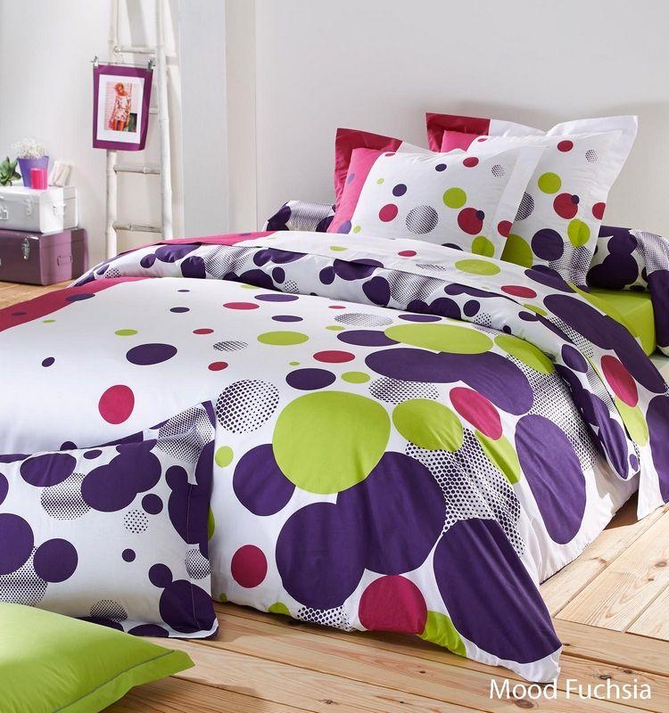 taie d 39 oreiller mood fuchsia 50x70 linge de maison. Black Bedroom Furniture Sets. Home Design Ideas