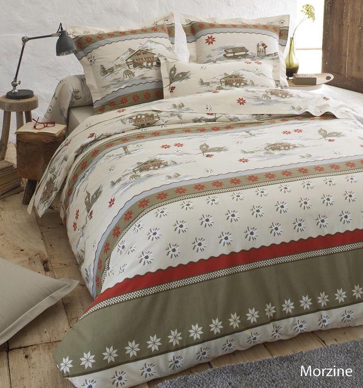 taie d 39 oreiller morzine 65x65 linge de maison. Black Bedroom Furniture Sets. Home Design Ideas