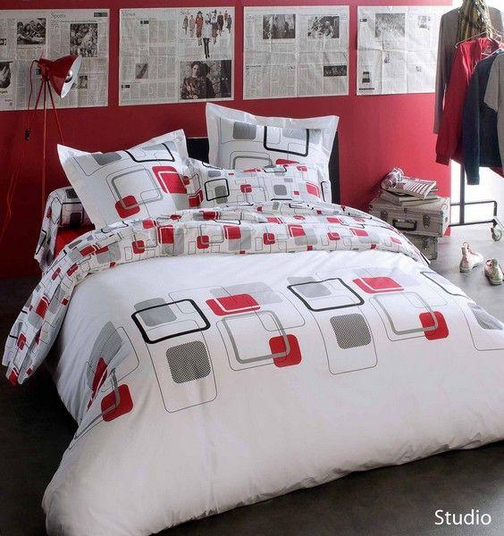 taie d 39 oreiller studio 65x65 linge de maison. Black Bedroom Furniture Sets. Home Design Ideas